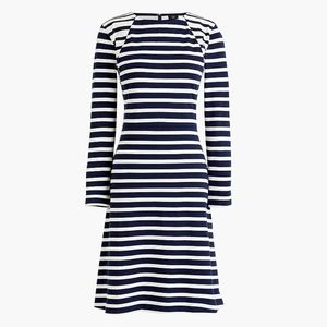 New JCREW 365 knit fit-and-flare dress in stripe